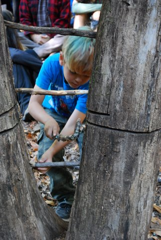 freeplay, child making a ladder